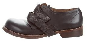 Marni Leather Monk Strap Shoes
