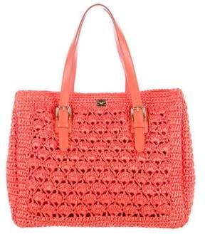 Dolce & Gabbana Woven Raffia Tote w/ Tags - ORANGE - STYLE