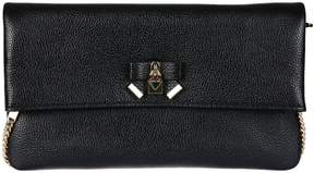 Michael Kors Everly Chain Clutch - BLACK - STYLE