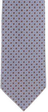 Bvlgari Silk Geometric Print Tie