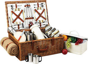 Picnic at Ascot Dorset Basket for Four with Coffee Set and Blanket