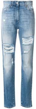 Moschino distressed denim trousers