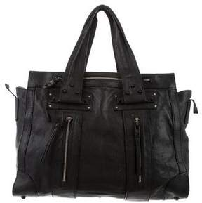 Chloé Zip-Embellished Leather Tote