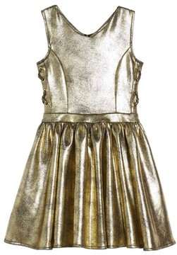 Bebe Girl's Metallic Side Tie Dress