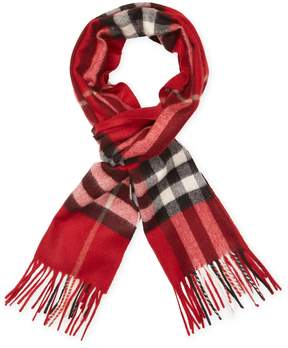 Burberry Women's Cashmere Check Long Scarf, 66 x 11
