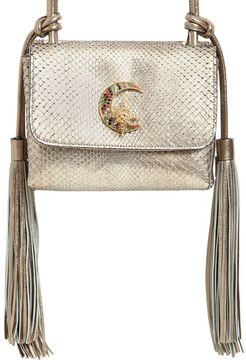 Small Swarovski Moon Python Shoulder Bag