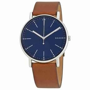 Skagen Signature Blue Dial Brown Leather Men's Watch SKW6355