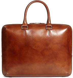Brooks Brothers Burnished Leather Briefcase