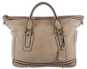 Burberry Leather Satchel Bag - NEUTRALS - STYLE