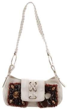 Saint Laurent Embellished Leather Shoulder Bag