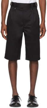 Junya Watanabe Black Cotton Twill Shorts