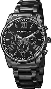 Akribos XXIV Mens Black Strap Watch-A-904bk