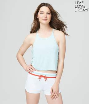 Aeropostale Final Sale- LLD Lace-Up Sides Crop Tank