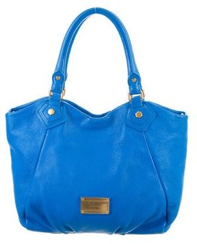 Marc by Marc Jacobs Grained Leather Satchel - BLUE - STYLE
