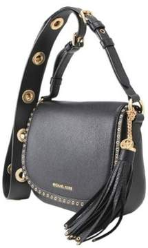 Michael Kors Brooklyn Medium Leather Saddlebag - Black - 30F6ABNM8L-001 - BLACK - STYLE