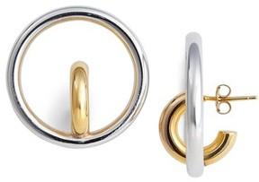 Charlotte Chesnais Women's Saturn Blow Medium Hoop Earrings