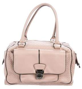 Tod's Signature Embossed Leather Satchel