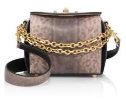 Alexander McQueen Box Bag Karung Leather Satchel 16