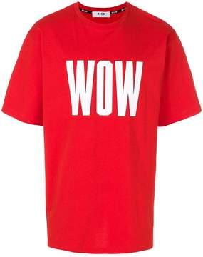 MSGM Wow T-shirt