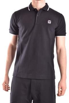 McQ Men's Black Cotton Polo Shirt.