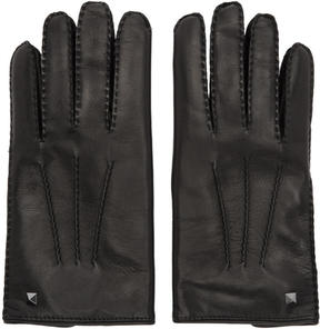 Valentino Black Garavani Mini Stud Gloves