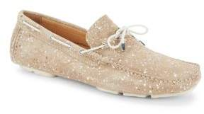 Bugatchi Paint-Splatter Boat Shoes