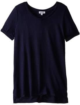 Splendid Littles Always Slub Jersery S/S V-Neck Girl's T Shirt