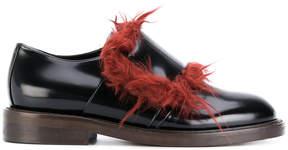 Marni faux fur trim shoes
