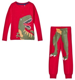 Joules Red Dinosaur Print Short Pyjamas