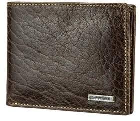 Steve Madden Buff Crunch Leather Passcase Wallet.