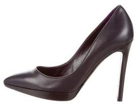 Tom Ford Leather Pointed-Toe Pumps
