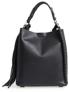 AllSaints Kepi Leather Shoulder Bag - Black