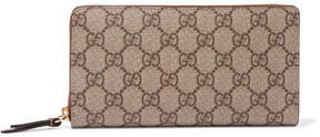 Gucci Coated-canvas Continental Wallet - Beige - BEIGE - STYLE