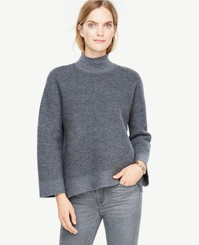 Ann Taylor Boiled Wool Turtleneck Sweater