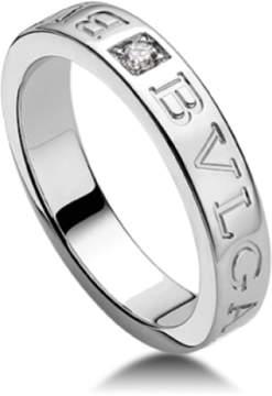 Bulgari Bvlgari 18K White Gold and Diamond Band Ring AN853348