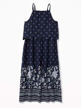 Old Navy Ruffle-Trim Floral Midi Dress for Girls