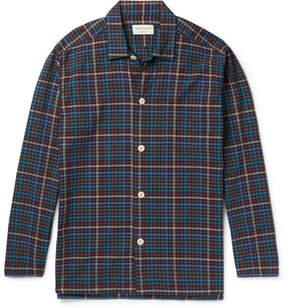 Oliver Spencer Loungewear Checked Cotton Pyjama Shirt