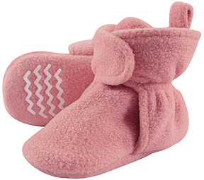 Hudson Baby Strawberry Fleece-Lined Booties - Girls