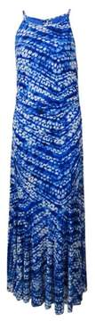 Nine West Women's Printed Mesh Trumpet Dress