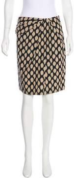 DKNY Printed Knee-Length Skirt
