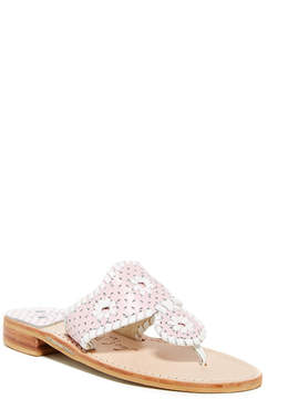 Jack Rogers Perforated Leather Thong Sandal