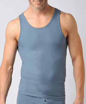 Naked Deep Dusk Ribbed Pima Cotton Fitted Tank - Men's Regular