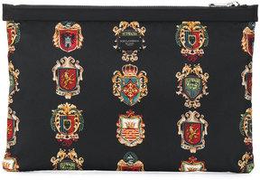 Dolce & Gabbana crest print clutch