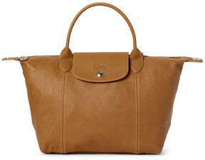 Longchamp Natural Le Pliage Cuir Small Satchel - NATURAL - STYLE