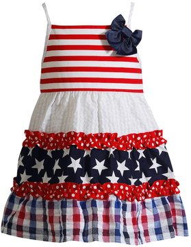 Youngland Toddler Girl Patriotic Tiered Dress