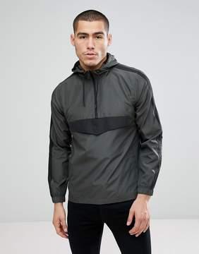 Brave Soul Half Zip Nylon Windbreaker Jacket