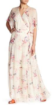 Love Sam Lily Print Surplice Maxi Dress