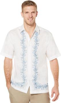 Cubavera Short Sleeve L Shape Print Shirt