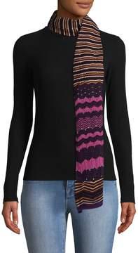 Missoni Women's Lurex Ribbed Edges Wool Scarf