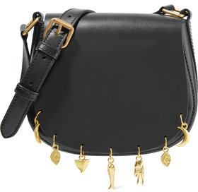 Sandro Audio Embellished Leather Shoulder Bag